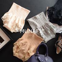 Wholesale High Waist Shaping Underwear - Panties String Japan's New Munafie Seamless High Waist Abdomen Micro Warm Palace Ladies Underwear Lace Shape Memory 17041201