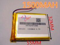 Wholesale Battery Cel - olymer lithium best battery brand Free shipping 3.7V,1500mAH,[603255] PLIB; polymer lithium ion   Li-ion battery for dvr,GPS,mp3,mp4,cel...