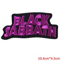 Wholesale Jacket Bands - Free Shipping 10pcs Set BLACK SABBATH heavy metal punk rock band Iron On Patches label DIY letter for sweater jacket sportwear