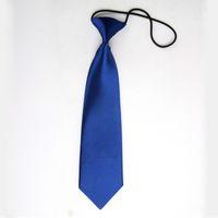 Wholesale Wholesale Toddler Neckties - Wholesale- New Boy Kids Baby Toddler Wedding Party Neck Tie Necktie School Suit Accessories Blue