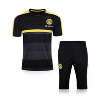 Wholesale Dotting Kit - 2017 New DOT Short Sleeve 3 4 Training Suit kits Soccer Jerseys Chandal Survetement Tracksuits Uniforms Sets