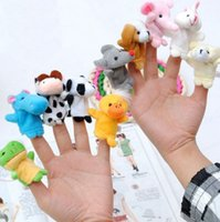 Wholesale Groups Games - New Baby Plush Toy Hand Finger Puppets Talking Props Helpers 10 Animal Group Play Game for Kid 10pcs set kids gifts