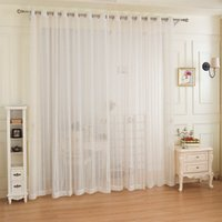 Wholesale Voile For Curtain - Free Shipping White Striped Design Window Gauze Sheer Curtains For Living Room Balcony Drapes voile tulle curtain for window fabric