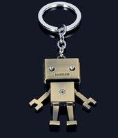 ingrosso anello chiave del robot-Portachiavi per auto Portachiavi con portachiavi in metallo modello robot per uomo donna regalo per bambini