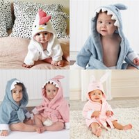 Wholesale Christmas Sleepwear - Baby Bathrobe Charactor Soft Warm Baby Boys Girls Kids Bathrobe Bath Towel Cartoon Animal Hooded Sleepwear Pajamas Clothing Wholesale 856