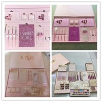 Wholesale high quality cosmetics - 2017 new Kylie Jenner Cosmetics 4pcs Pink Set and I Want It All Birthday Collection Limited Edition Makeup High Quality.