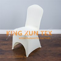 Wholesale Ivory Spandex Chair Covers - 20pcs Sold Lycra Spandex Chair Cover For Wedding Event Decoration Black&White&Ivory Color Choose For you Free Shipping