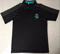 Wholesale Polo Man Shirt - top quality 2017 2018 reAL Madrid jerseys Polo Shirt Ronaldo 17 White Chelsea soccer Wear Football Tee Shirts Soccer Clothes free shipping