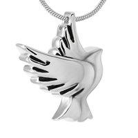 ожерелье оптовых-IJD9496 мир Голубь из нержавеющей стали кремации кулон ожерелье памяти похороны шкатулка пепел память урны ожерелье