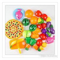 Atacado Play Cutting Toys Fruit Vegetable Kitchen Cutting Early Development Educação Toy For Kids DressUp Toys Free DHL