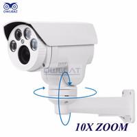 Wholesale New Ptz Ip Camera - 2016 New Arrival Real Cmos Owlcat Hi3516c+sony Imx322 Hd 1080p Ip Camera 10x Motorized Auto Zoom Varifocal 2mp Outdoor Ptz Ir Cut Onvif Rtsp
