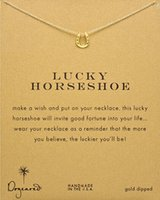 Wholesale Stainless Steel Horse Jewelry - Wholesale- Hot sale gold color horseshoe necklace pendant Good Luck horse hoof short choker necklace for women jewelry free shipping