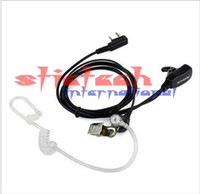 cb walkie al por mayor-por DHL o EMS 500pcs 2 PIN encubierta acústica del auricular del tubo de PTT MIC walkie talkie de dos vías CB radio de jamón