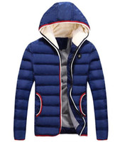 Wholesale cool male jackets - Cotton Jacket For Winter For Mens 4XL Thicken Coat Men Quilted Warm Fashion Male Overcoat Cardign Hooded Cool Men Jacket Coat J160940