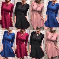 Wholesale Dashiki Wear - sexy dress club wear 2017 vestido festa slip dress V neck long sleeved hollow tight bandage dress for women dashiki dresses