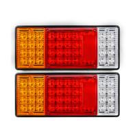 Wholesale Van Led Lights - 2pcs pair 44 LED Indicator Tail Light UTE Boat Trailer Truck Van For Camper Waterproof Kit Rear Light LED Taillight