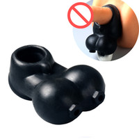 Wholesale Sex Enhancer For Men - Male Scrotum Squeeze Ring Chastity Cage Sex Toys For Men Ball Stretcher Enhancer Penis Sleeve Scrotum Pouch Time Delay Cock Ring
