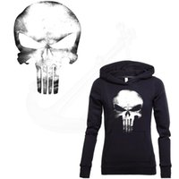 Wholesale skull hoodies wholesale online - Punisher Skull Stickers cm Patch For Clothing A level Washable DIY T shirt Hoodies decoration free shopping