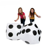 Wholesale Blow Up Pools - Wholesale-2pcs Giant Inflatable Blow-up Dot Dice Children Party Favour Kids Pool Toy Gift