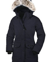 Wholesale Full Paragraph - Outdoor down jacket fashion simple in the long paragraph female models Canada down jacket warm and comfortable winter long jacket women