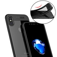 Casos de telefone protetores completos para iPhone X iPhone 8 TPU PC Hard Clear Voltar capa para iphone 6 / 6s / 7 Samsung S8 plus nota 8