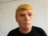 Wholesale Complete Costume - Donald Trump Celebrity Latex Mask - Complete Your Republican Halloween Costume - One Size Fits Most All Ideal for Parties Halloween
