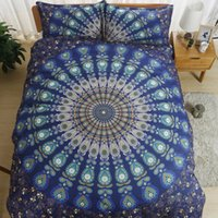 Wholesale Cheap Comforter Sets Full Size - Bohemian Bedding Set Queen King Size Sheet Bedding Sets Printing Quilt Cover Set Bedclothes Pillowcase 3pc Cotton Bedlinen Cheap
