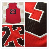 Wholesale Spun Polyester Fabric - 2017 Newest Throwback 23 Jersey Red AU Edition Jersey Embroidery Logo #23 Retro Basketball Jersey AU Fabric material
