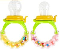 Wholesale Bit More - Wholesale-Lovely Baby fruit and vegetable bit baby Pacifiers for more than 4 months baby pacifier can shake voice Free Shipping!!