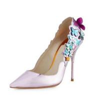 ingrosso scarpe da partito bowtie-moda alta bowtie donne pompe da sposa scarpe eleganti stampa donne in pelle partito pompe slip-on sottile tacchi alti pulcino caldo