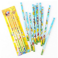 Wholesale 2B Pencil Poke Cartoon Soldier Wooden Standar B Pen Gifts for Kids Stationery Office Supplies Pencil DHL