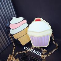 ingrosso sacchetto di spalla del gelato-Borsa a tracolla bambina Borsa piccola a tracolla moda bambina Principessa Mini borsa per il trucco gelato
