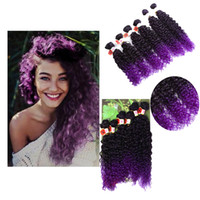 Wholesale Synthetic Curly Hair Wefts - 14-18inch Eunice 6pcs pack Jerry Curly Weave Hair Extension Sew in Synthetic weaving Wefts One pack full head bundles