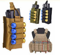 Wholesale Tactical Vest Bags - Tactical Molle Vest Accessory Magazine Pouch with 12 Gauge Airsoft Shotgun Shells Holder Hunting Combat Assault Bag
