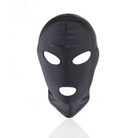 Wholesale Wholesale Adult Harnesses - Lightweight Strong Elastic Spandex Mask hood Fetish Fantasy Headgear Harness Cosplay Party Mask Adult Game Sex Toys ZA2650