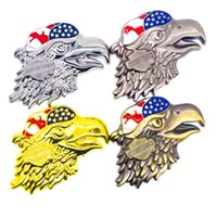 Wholesale Cool Auto Emblems - Personalized Stickers Cool Eagle Emblem Car Styling 3D Stickers Auto Decal Accessories Metal Badge Modifying Motorcycles sticker