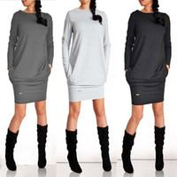Wholesale Black Bell Sleeve Dress Xs - Simplee Elegant split knitted bodycon dress women Black long sleeve sexy party dresses Autumn winter warm midi dresses vestidos
