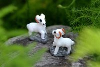Wholesale animals goats resale online - 30pcs MOQ High quality lovely mini handcraft white goat fairy miniature color as picture DIY garden landscape home decorative animals Usage
