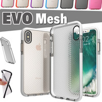 Wholesale Note Mesh - EVO Mesh Sport Case Soft TPU Drop Protective Silicone Pouch Colorful Shockproof Bumper Cover For iPhone X 8 7 Plus 6 6S Samsung Note 8 S8
