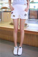 Wholesale White Cotton Maternity Pants - Women Cotton Adjustable High Waist Maternity Short Pants Size M L XL XXL DXY1802
