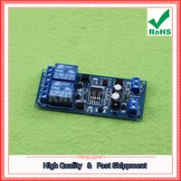 Wholesale Programmable Relay Module - Free Shipping 2pcs 12V Dual Relay Module Delayed Timing Switch Motor Forward and Reverse Controller Programmable D1A3