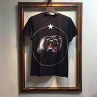 Wholesale Rottweiler Tee Shirts - Summer Men Cotton T Shirt Roaring monkeys stars Brand desinger rottweiler printed gvc Kanye West t-shirt men Tee Shirts
