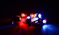 Wholesale Led Safety Helmets - LED Waterproof Bike Bicycle accessories Cycling Front Rear Tail Helmet Red Flash Lights Safety Warning Lamp Cycling Safety Caution Light