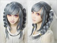 Wholesale Dangan Ronpa Cosplay Wig - Danganronpa Dangan-Ronpa Peko Pekoyama Beautiful Hair Fashion Cosplay Party Wig free shipping