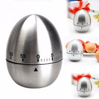 Wholesale Stainless Steel Egg Timers - Egg Kitchen Cooking Countdown 60 Minutes Mechanical Alarm Stainless Steel Kitchen Timer Tools