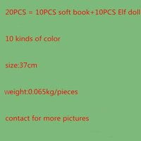 Wholesale Shelf For Books - Fast DHL Shipping 12 Style Christmas Elf Doll Plush toys Elves Xmas dolls and Soft Back Books on the shelf For Kids Holiday Christmas Gift 0