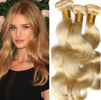 Wholesale Blonde Hair 28 - 8A Brazilian Human hair weave Hair wefts 8-28 inches Strawberry blonde Body wave 3 bundles per lot 100% Human Hair Extensions