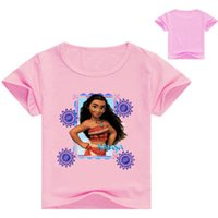 Wholesale Designer Shirts For Girls - 2017 Summer New Arrival moana Children Clothing Kids Boys T-shirt 100% Cotton Designer Clothes For Baby Girls Tops 3-12Y