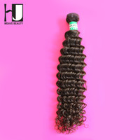 Wholesale Hj Hair - Wholesale-HJ Weave Beauty Cheap 1Pc Virgin Brazilian Deep Curly Hair Bundles Free Shipping Top Quality Human Hair Weave 12''-30''