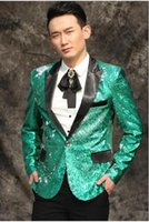 stage news - Original news men suits designs masculino homme terno stage costumes for singers men sequin blazer dance clothes jacket dress